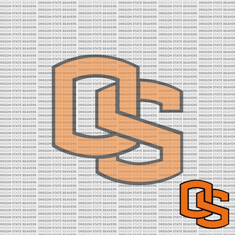 2SYT NCAA Fanatic: Oregon State University 12 x 12 Paper