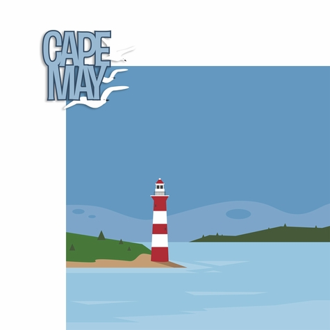 New Jersey: Cape May 2 Piece Laser Die Cut Kit