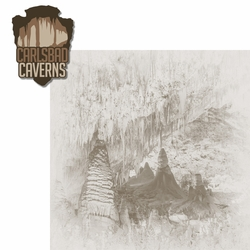 New Mexico: Carlsbad Caverns 2 Piece Laser Die Cut Kit