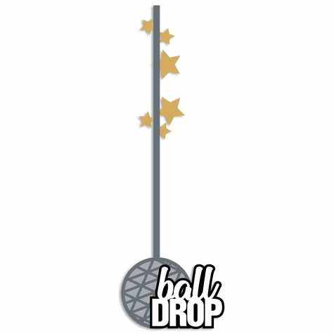 New Year:  Ball Drop Laser Die Cut