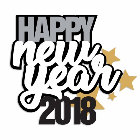 2SYT New Year: New Year 2018 Laser Die Cut