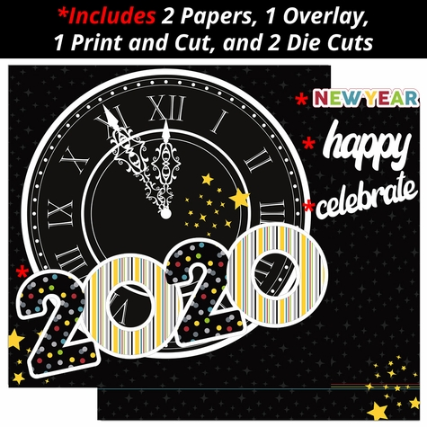 New Years 2020 2 Page Print and Cut