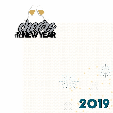 New Years: Cheers to the New Year 2 Piece Laser Die Cut Kit