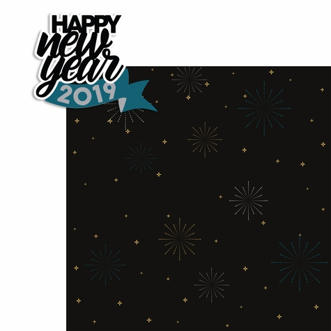 2SYT New Years: Happy New Year 2019 2 Piece Laser Die Cut Kit