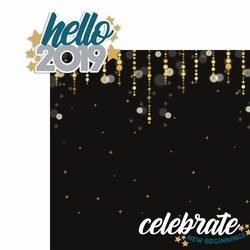 New Years: Hello 2019 2 Piece Laser Die Cut Kit