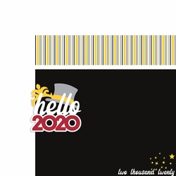 New Years: Hello 2020 2 Piece Laser Die Cut Kit
