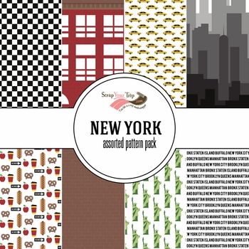New York Assorted 12 x 12 Paper Pack