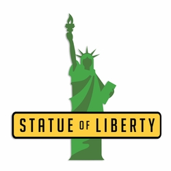 New York: Statue of Liberty Laser Die Cut