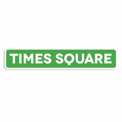 New York: Times Square sign Laser Die Cut