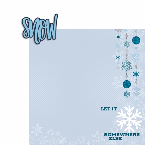 No Snow: Let it Snow 2 Piece Laser Die Cut Kit