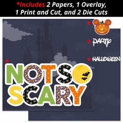 Not so Scary 2 Page Print and Cut