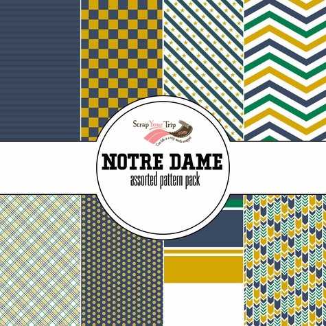 Notre Dame Assorted 12 x 12 Paper Pack