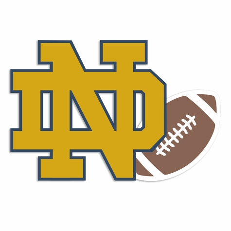 Notre Dame: ND football Laser Die Cut