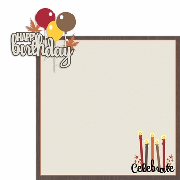November: Birthday 2 Piece Laser Die Cut Kit
