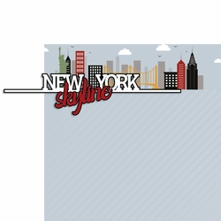NY Skyline 2 Piece Laser Die Cut Kit