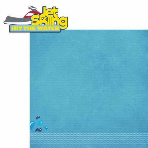 On The Water: Jet Ski 2 Piece Laser Die Cut Kit