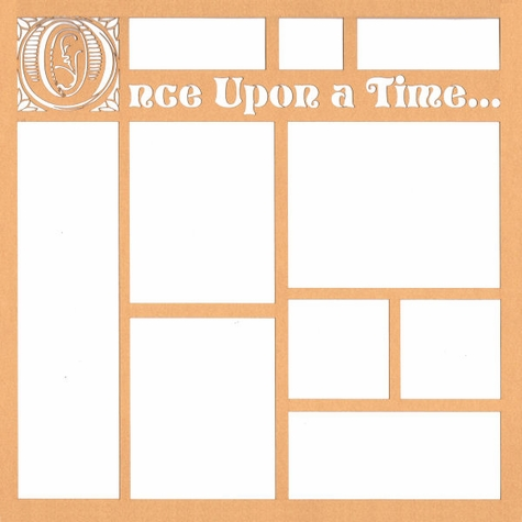 Once Upon A Time 12 x 12 Overlay Laser Die Cut