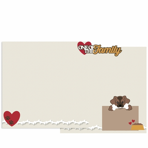 One of the Family Double Page Layout Kit