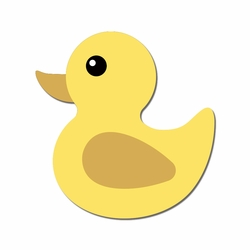 Our Little One: Ducky Laser Die Cut