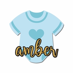 Our Little One: Name with Onesie Custom Laser Die Cut