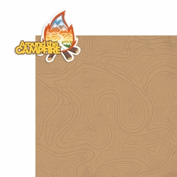Outdoors: Around the Campfire 2 Piece Print and Cut Kit