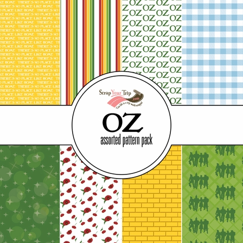 OZ Assorted 12 x 12 Paper Pack