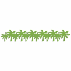 Palm Tree Laser Die Cut