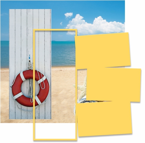 Panorama: Beach Lifesaver Frame Kit