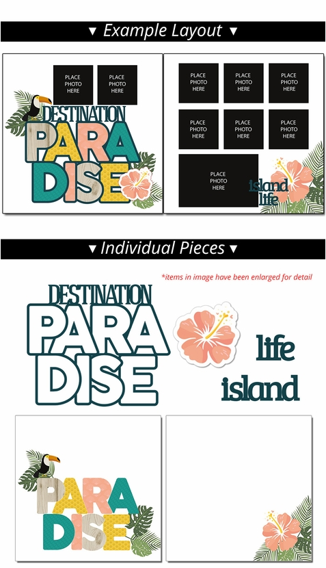 Paradise 2 Page Print and Cut Kit