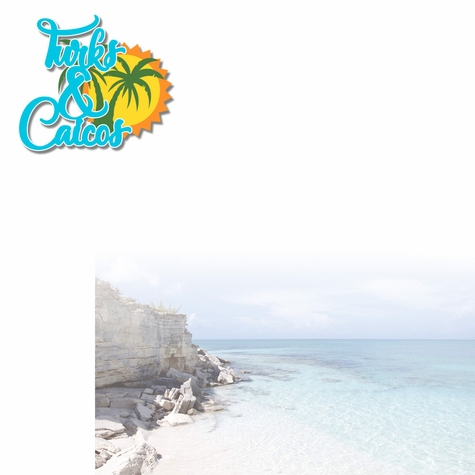 Paradise Found: Turks And Caicos 2 Piece Laser Die Cut Kit