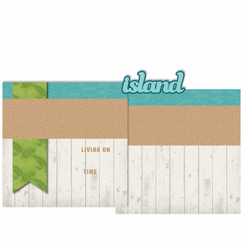 Paradise: Island Time 3 Piece Laser Die Cut Kit