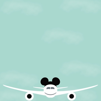 Parks: Mickey Luggage 12 x 12 Paper