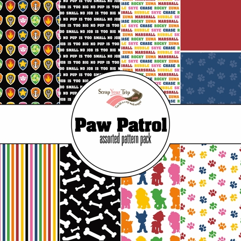 Paw Patrol Assorted 12 x 12 Paper Pack