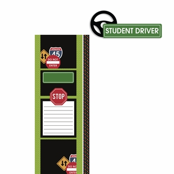 Permit to Drive: Student Driver 2 Piece Laser Die Cut Kit
