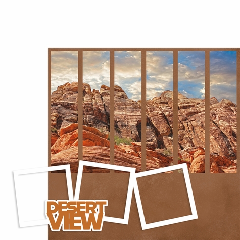 Photo Blocks: Desert View 2 Piece Laser Die Cut Kit