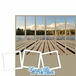 Photo Blocks: Lovin' Life at the Lake 2 Piece Laser Die Cut Kit