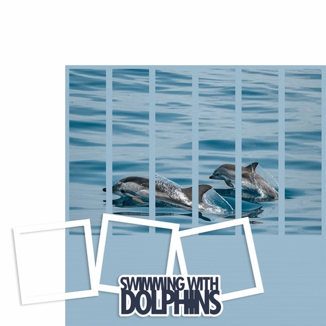 Photo Blocks: Swimming with Dolphins 2 Piece Laser Die Cut Kit