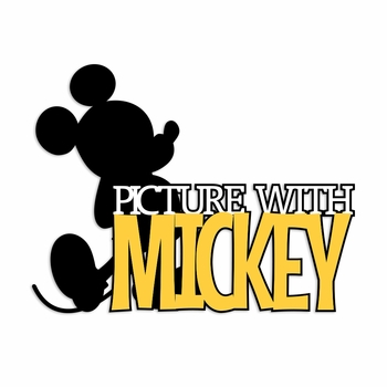 Picture with Mickey Laser Die Cut