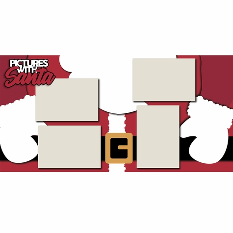 Pictures with Santa 2 Page Layout Kit