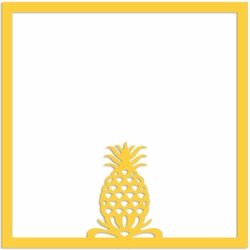 Pineapple 12 x 12 Overlay Laser Die Cut