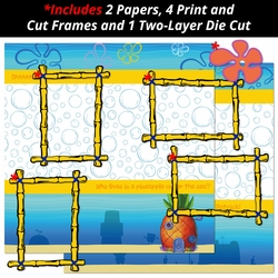 Pineapple Under The Sea 2 Piece Print and Cut Kit