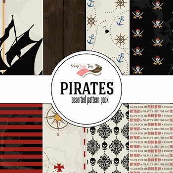Pirates Assorted 12 x 12 Paper Pack