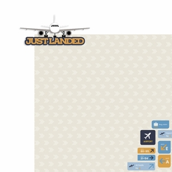 Plane Fun: Just Landed 2 Piece Laser Die Cut Kit