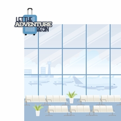 Plane Fun: Let the Adventure Begin 2 Piece Laser Die Cut Kit