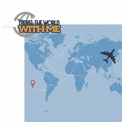 Plane Fun: Travel the World with Me 2 Piece Laser Die Cut Kit