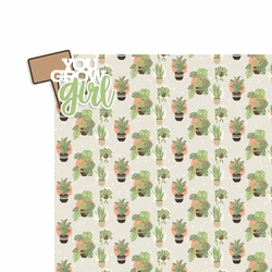 Plant Life: You Grow Girl 2 Piece Laser Die Cut Kit