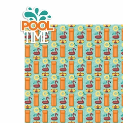 Pool: Pool Time 2 Piece Laser Die Cut Kit
