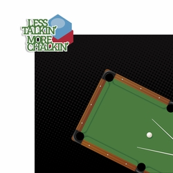 Pool Shark: Less Talking 2 Piece Laser Die Cut Kit