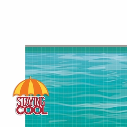 Pool: Staying Cool 2 Piece Laser Die Cut Kit