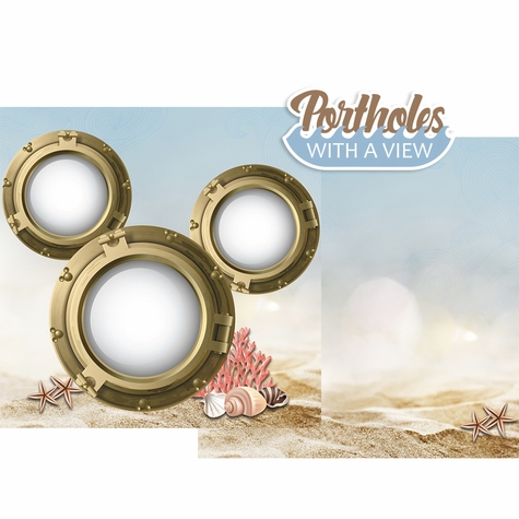 Porthole with a view Double Page Layout Kit
